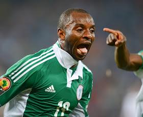 Sunday Mba celebrates his goal