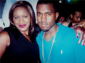 Kemi Olunloyo with Kanye West