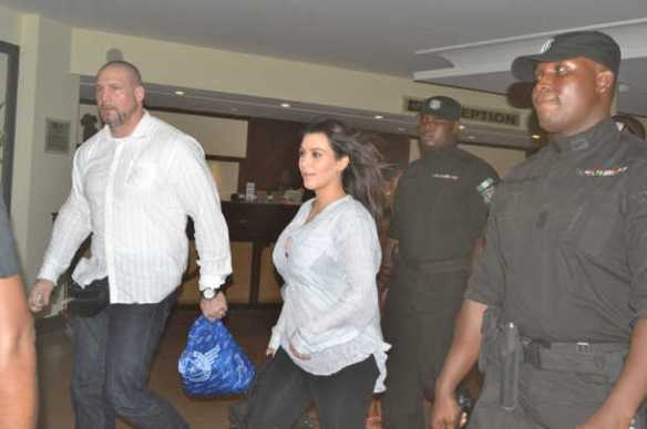 Kim Kardashian arrives lagos, Nigeria for Darey's Love Like A Movie Concert