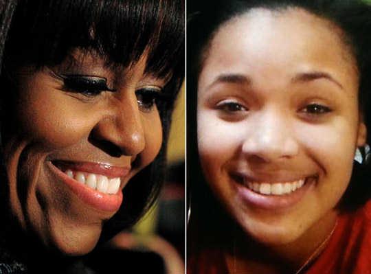 Michelle Obama & Hadiya Pendleton