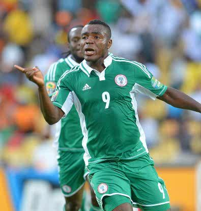 Nigeria's Emenike (Super Eagles)